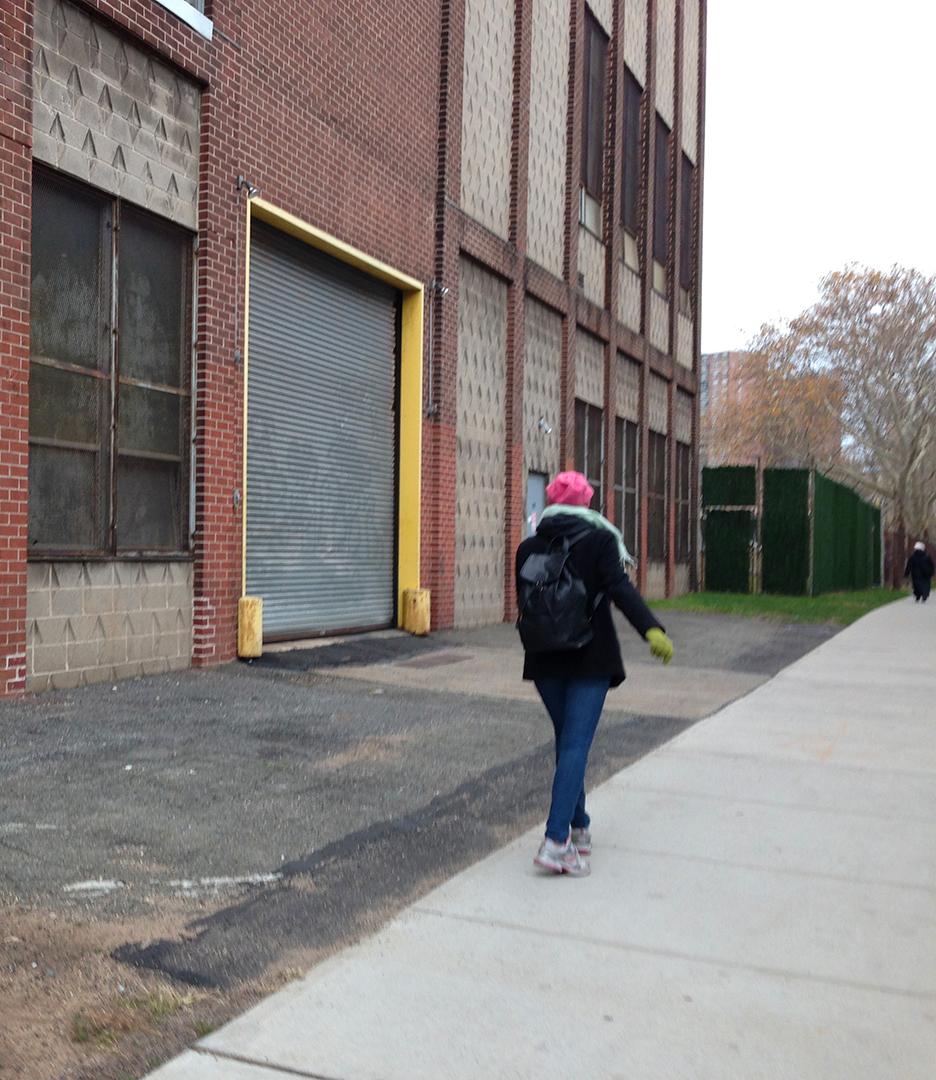 Walking with Julia Shapiro, walking alone, gluing, and Brooklyn Historical Society visit